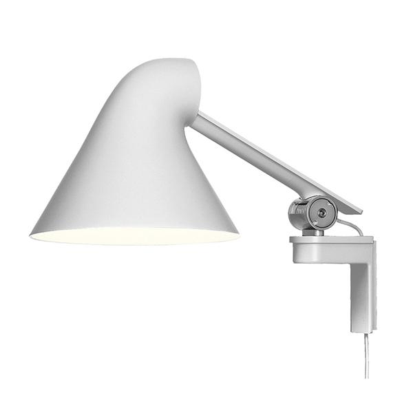 Louis Poulsen NJP wall lamp, short arm, white