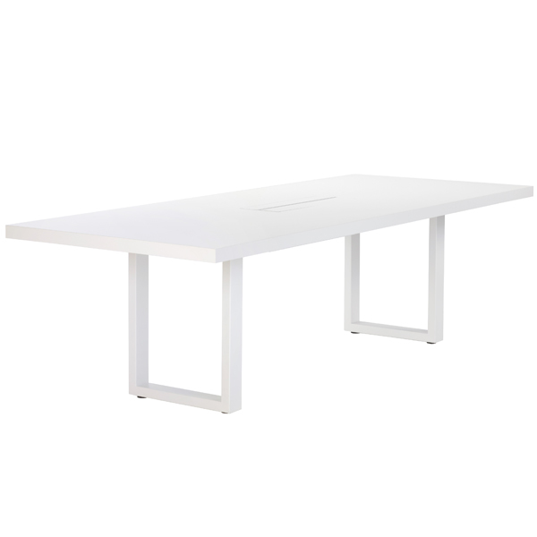 Adi 24/7 pöytä 250 x 100 cm, valkoinen