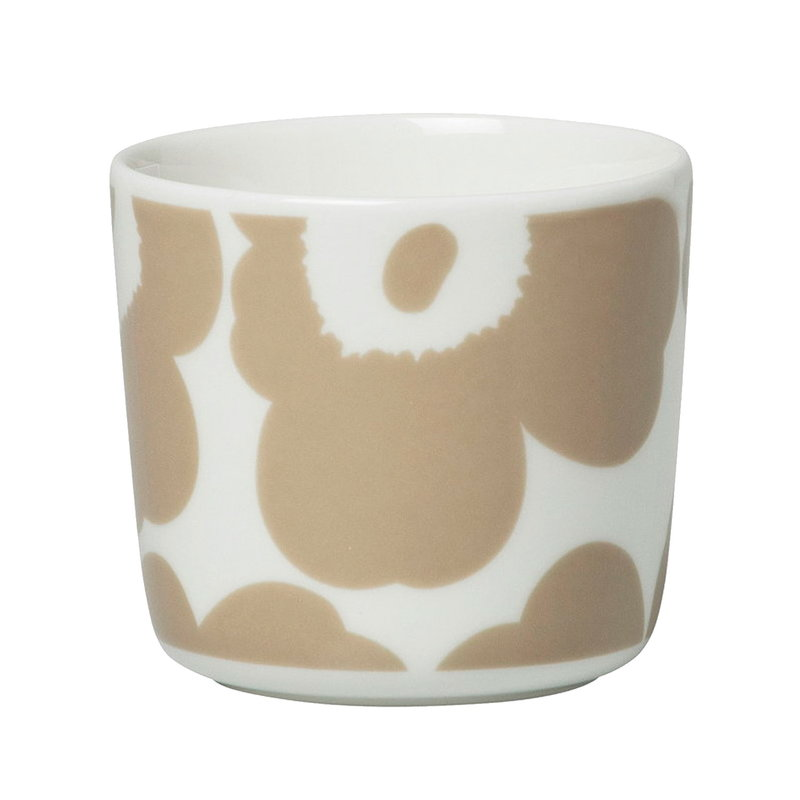 Marimekko Oiva - Unikko coffee cup w/o handle 2 dl, 2 pcs, white - beige
