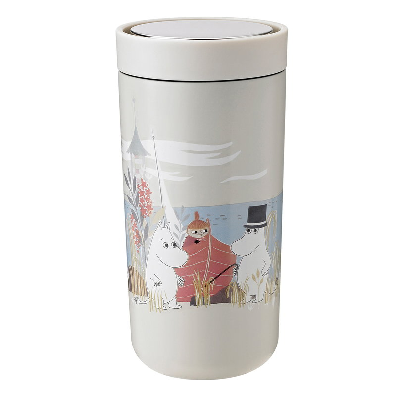 Stelton To Go Click thermo cup,  0,4 dl, sand - Moomin