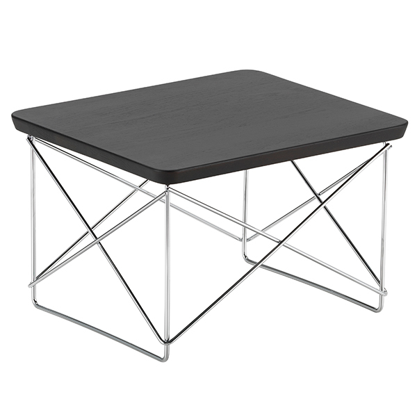 Vitra Eames LTR Occasional table, smoked oak - chrome
