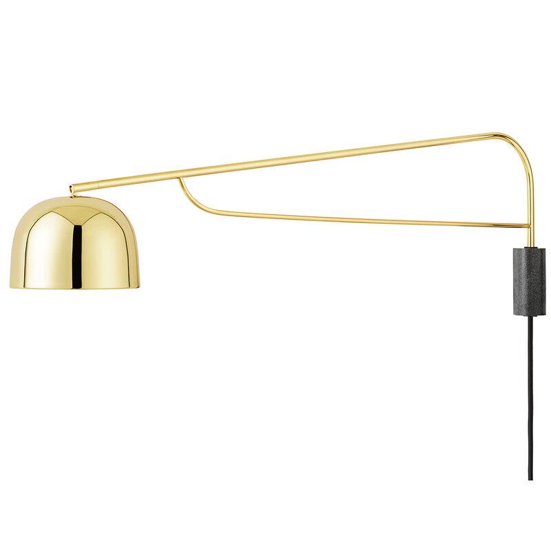 Normann Copenhagen Grant wall lamp 111 cm, brass