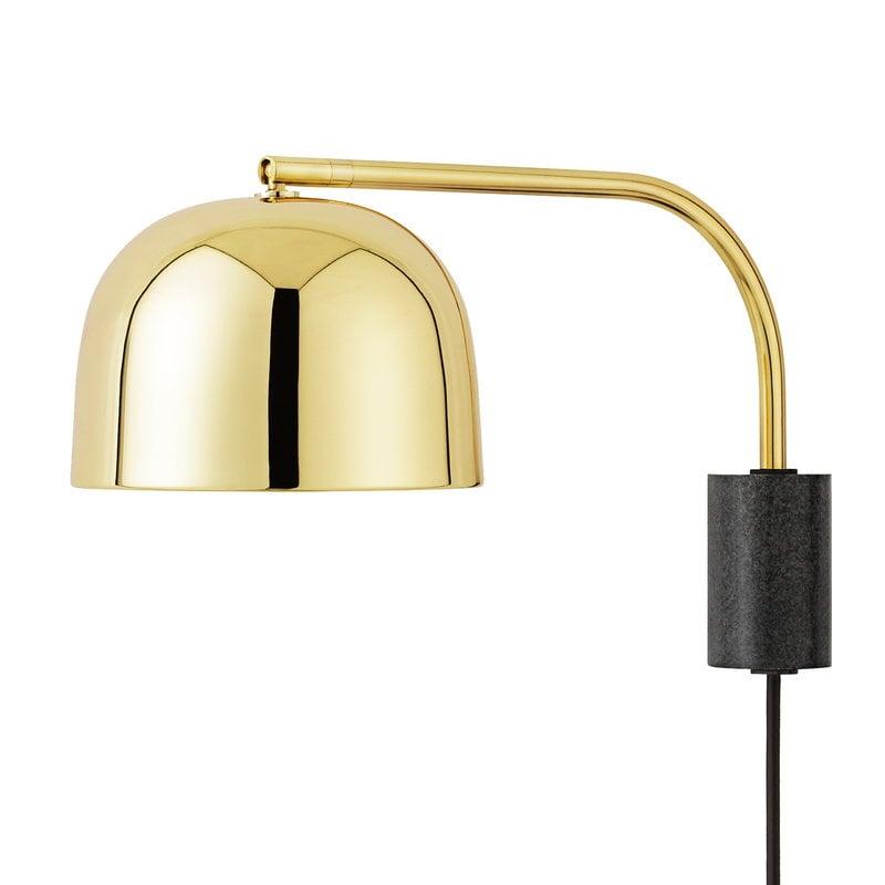 Normann Copenhagen Lampada da parete Grant 43 cm, ottone