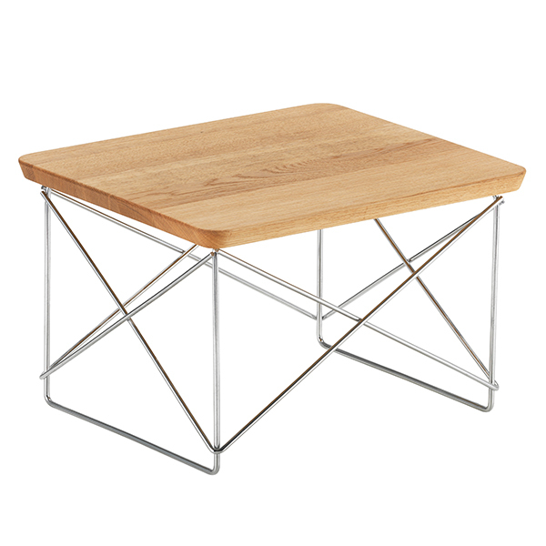 Vitra Eames LTR Occasional table, oak - chrome