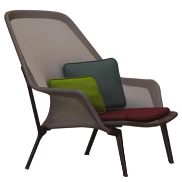 Vitra Slow Chair, brown - chocolate
