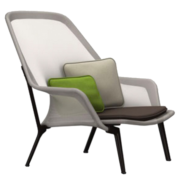 Vitra Slow Chair, brown/cream - chocolate