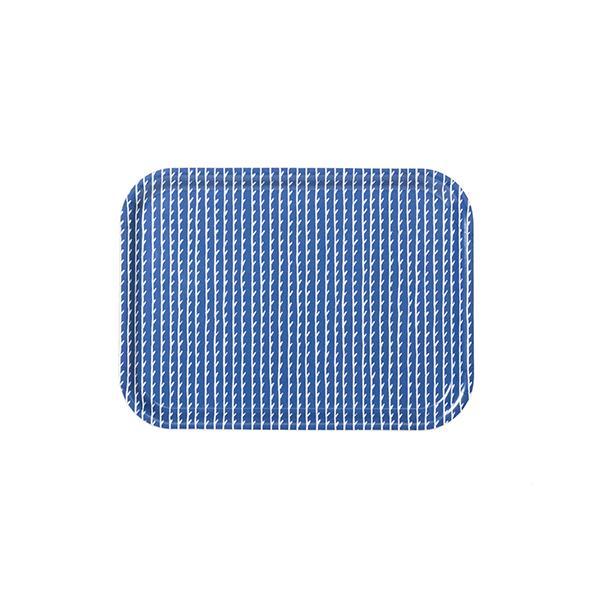 Artek Rivi tarjotin, 27 x 20 cm, sininen-valkoinen