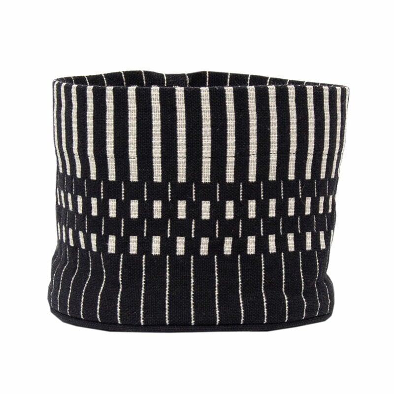 Johanna Gullichsen Helios fabric basket XS, black