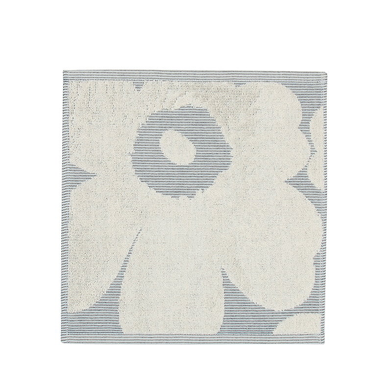 Marimekko Unikko Jacquard mini towel, off-white - blue