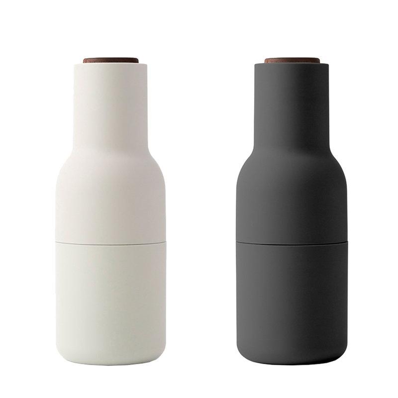 Menu Bottle suola- ja pippurimylly 2 kpl, ash - carbon - pähkinä