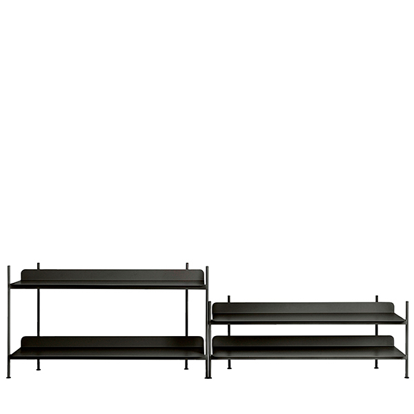 Muuto Compile shelf, Configuration 5, black