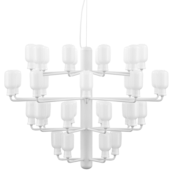Normann Copenhagen Amp chandelier, large, white