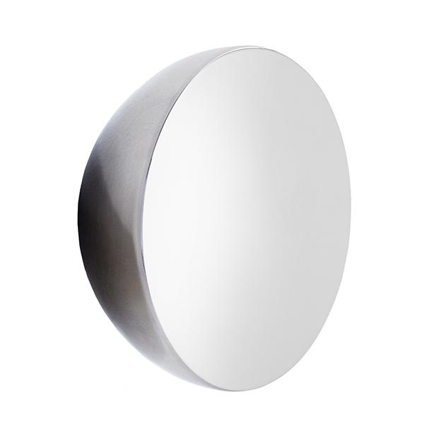 New Works Specchio Aura, grande, acciaio inox