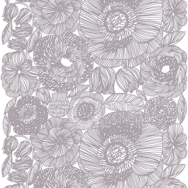 Marimekko Kurjenpolvi fabric, grey