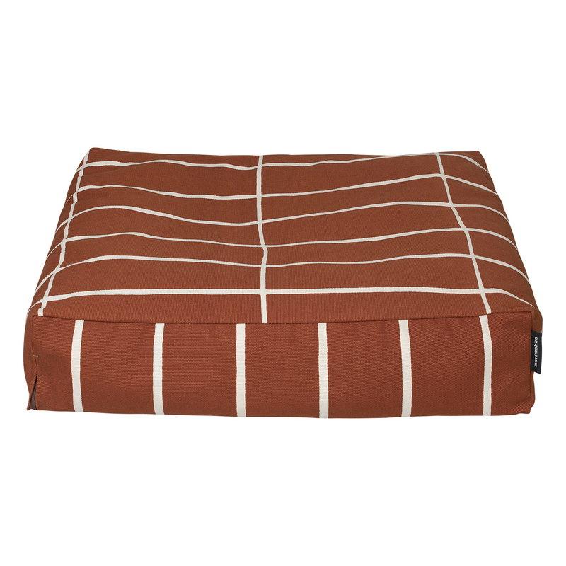 Marimekko Tiiliskivi seat cushion, reddish brown - off white