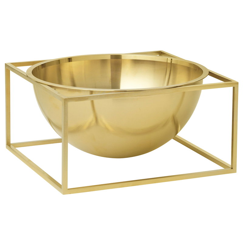 By Lassen Kubus Centrepiece bowl, large, brass
