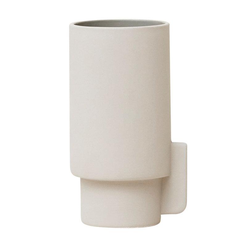 Form & Refine Alcoa maljakko, pieni, vaaleanharmaa