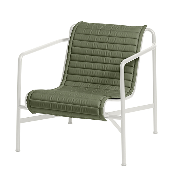 Hay Palissade Quilted cushion for low lounge chair, olive
