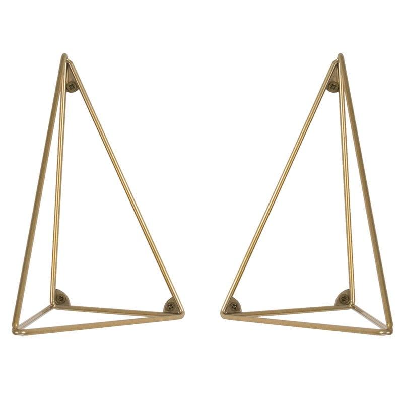 Maze Pythagoras hyllynkannattimet 2 kpl, messinki