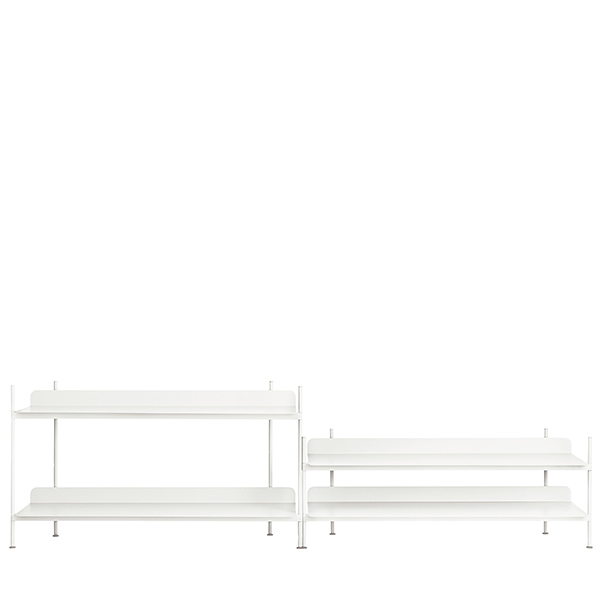 Muuto Compile shelf, Configuration 5, white