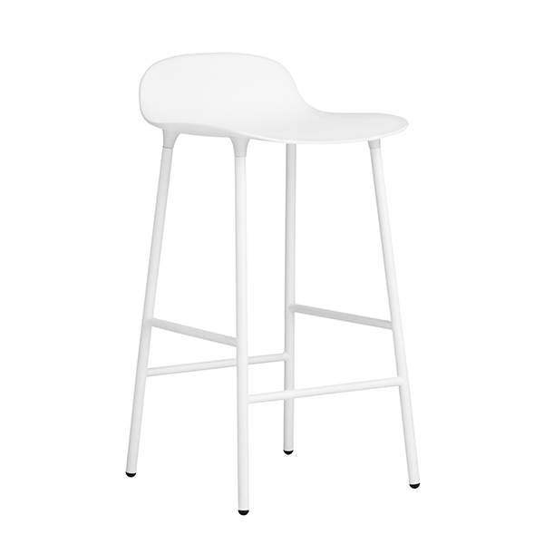 Normann Copenhagen Form barstool 65 cm, steel base, white