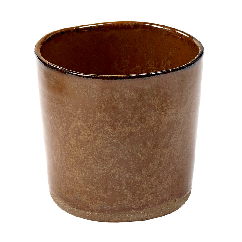 Serax Merci No 9 mug, ochre/brown