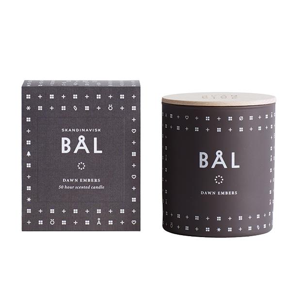 Skandinavisk Scented candle with lid, BÅL
