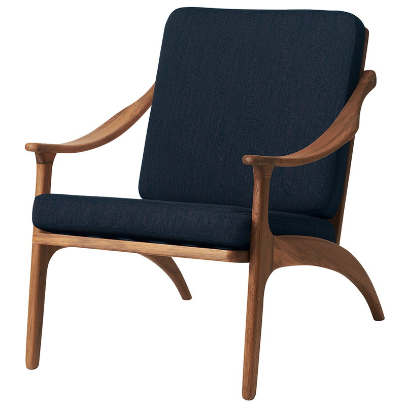 Warm Nordic Lean Back lounge chair, teak - granite grey