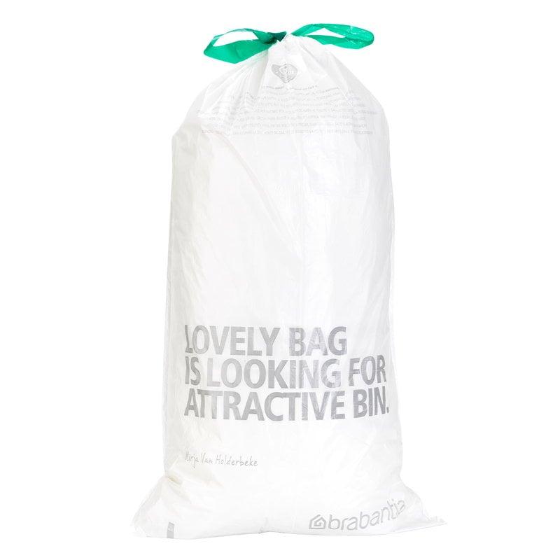 Brabantia PerfectFit bin liners, 20 pcs, white