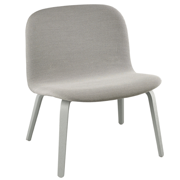 Muuto Visu lounge chair, upholstered, grey