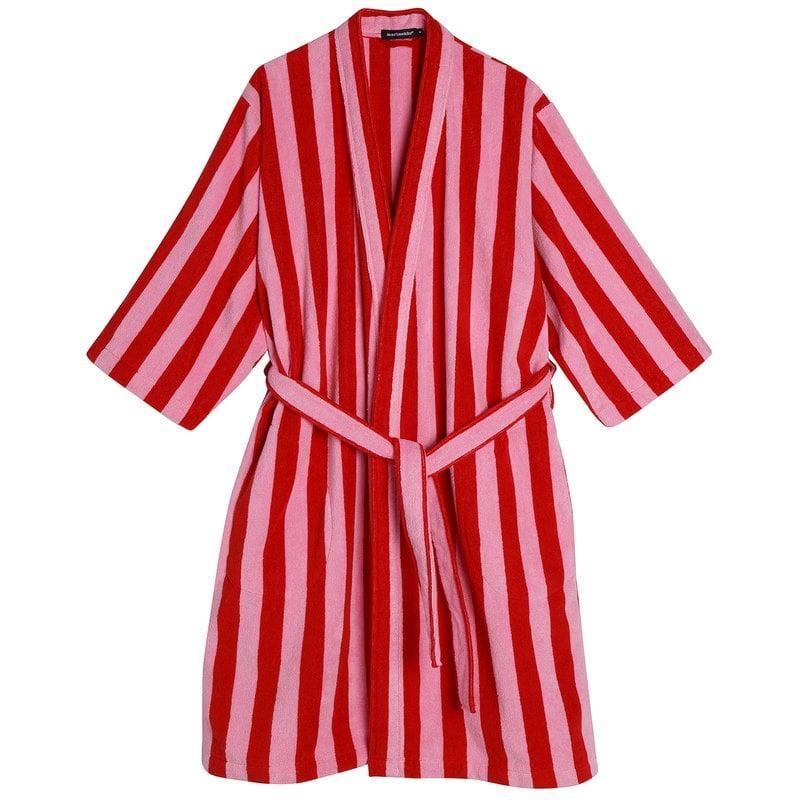 Marimekko Nimikko bathrobe, red - pink