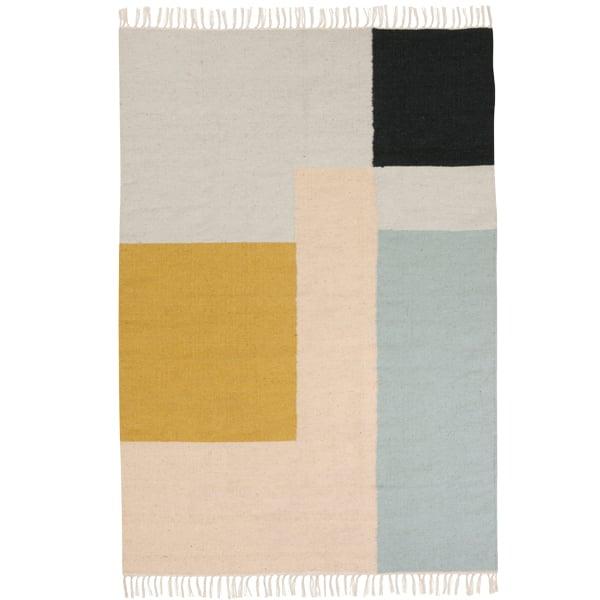 Ferm Living Tappeto Kelim, Squares, 140 x 200 cm