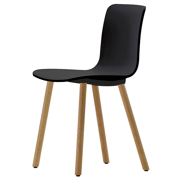 vitra hal wood chair oak black finnish design shop. Black Bedroom Furniture Sets. Home Design Ideas
