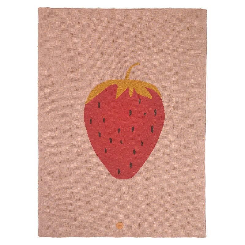 Ferm Living Strawberry viltti