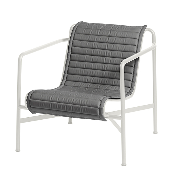 Hay Palissade Quilted cushion for low lounge chair, anthracite