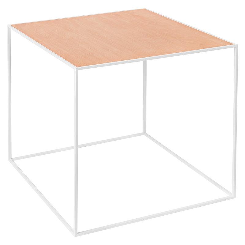 By Lassen Twin 42 table white, copper/black stained ash