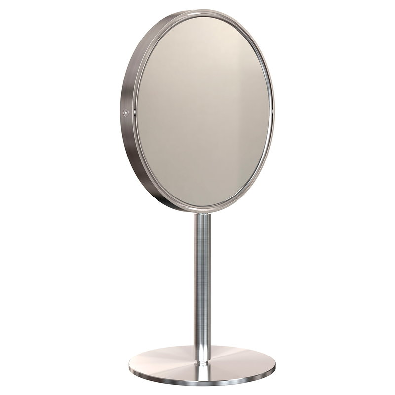 Frost Nova2 magnifying table mirror, brushed steel