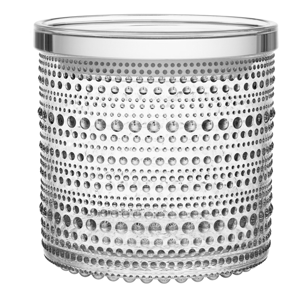 Iittala Kastehelmi jar 116 x 114 mm, clear