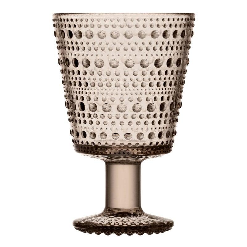 Iittala Kastehelmi universal glass 26 cl, 2 pcs, linen
