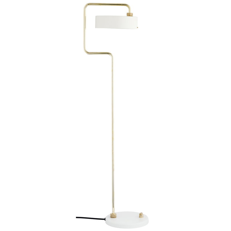 Made By Hand Petite Machine floor lamp, white