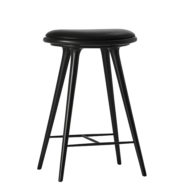 Mater High Stool, 69 cm, black stained beech