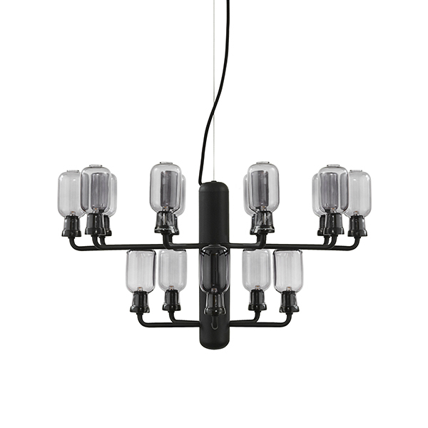 Normann Copenhagen Amp chandelier, small, smoke - black