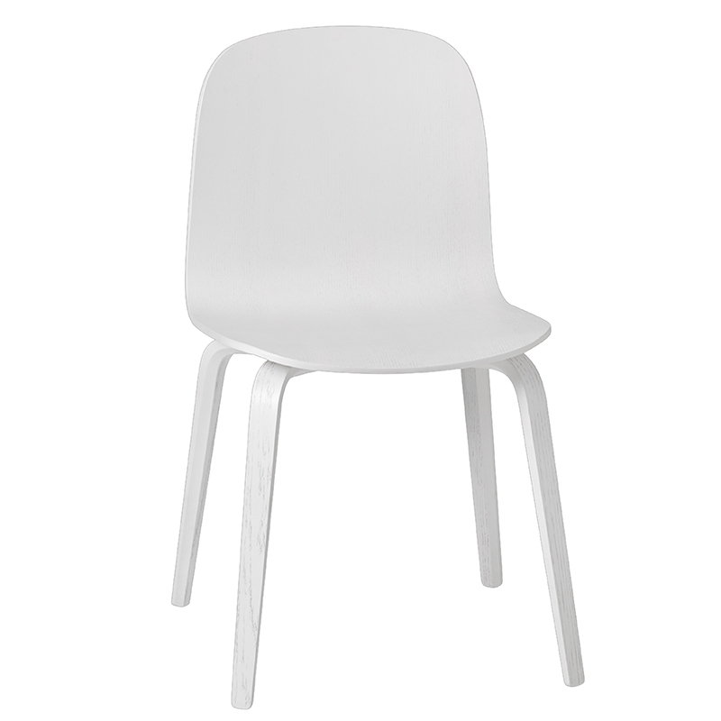 Muuto Visu chair, wood frame, white
