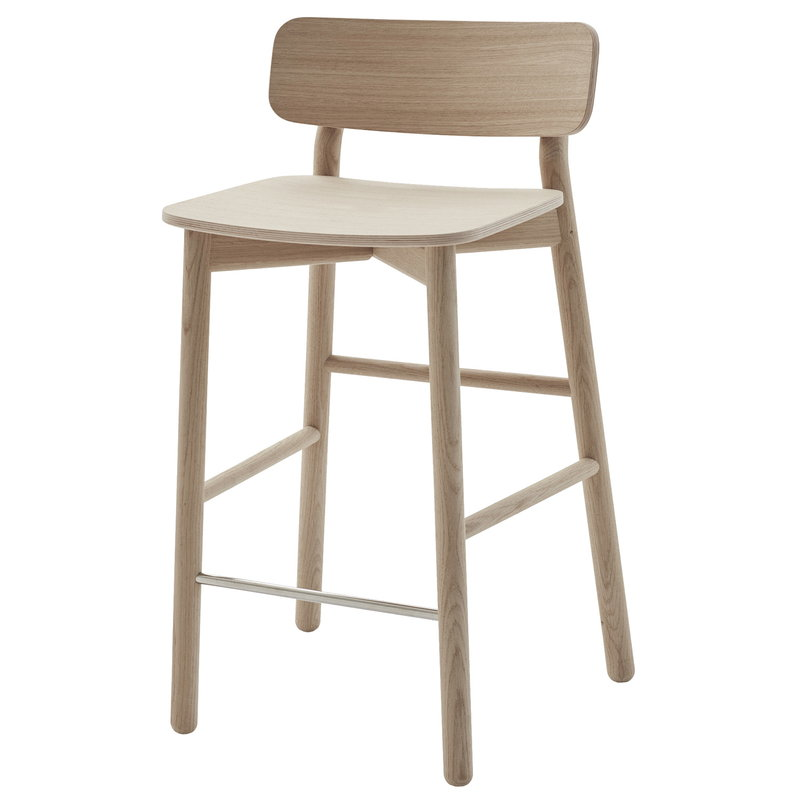 Skagerak Hven bar stool, low, soaped oak