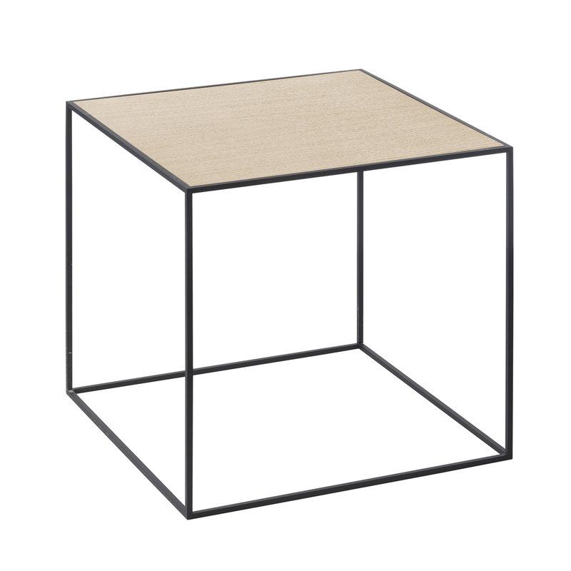 By Lassen Twin 35 table black, oak/brass