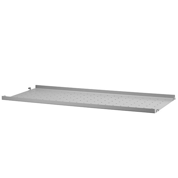 String Furniture String metal shelf, 78 x 30 cm, low, grey