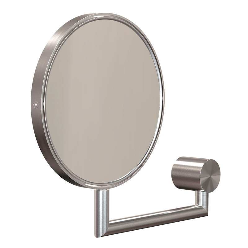 Frost Nova2 magnifying wall mirror, brushed steel