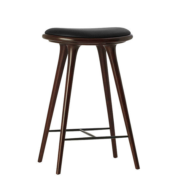 Mater Sgabello High Stool, 69 cm, faggio tinto scuro