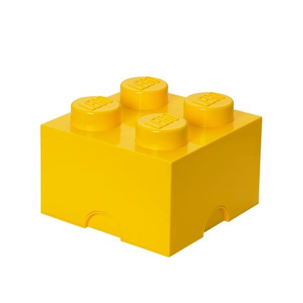 Room Copenhagen Lego säilytyslaatikko 4, keltainen