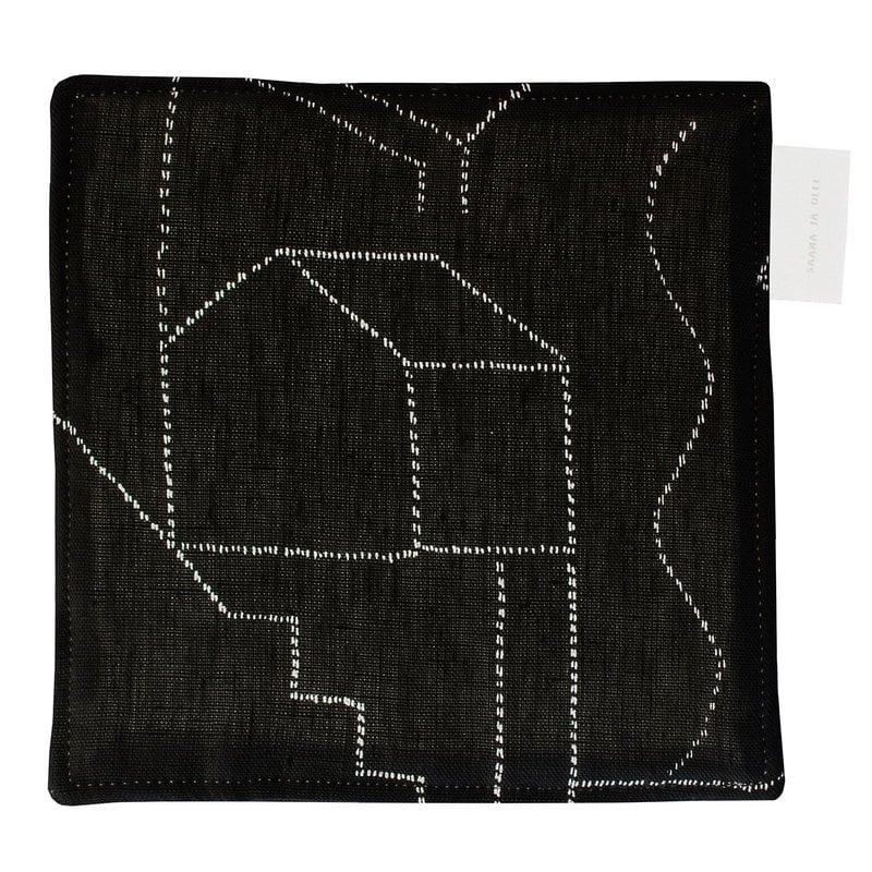Saana ja Olli Unien talo pot holder/trivet, black